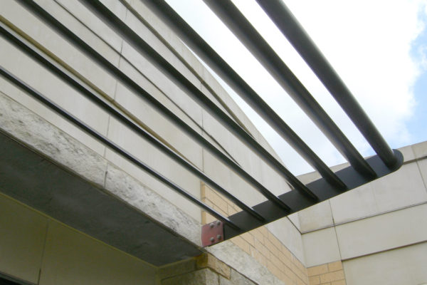 Custom metal louver sun shades