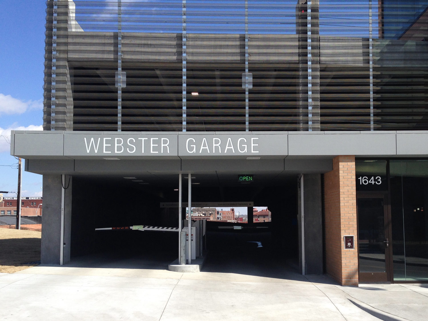 Webster House Parking Garage Standard Sheet Metal