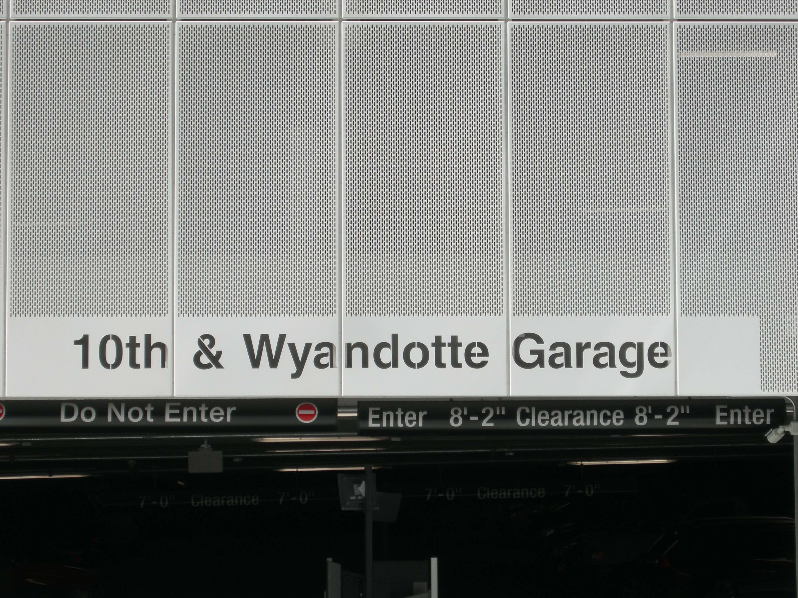 10th Amp Wyandotte Parking Garage Standard Sheet Metal